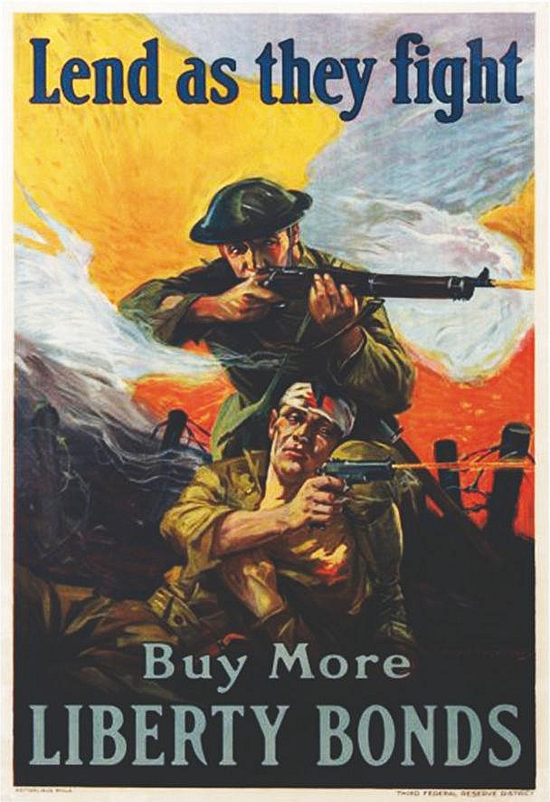RIESENBERG SIDNEY H. Lend as the fight - Buy more Liberty Bonds 1918