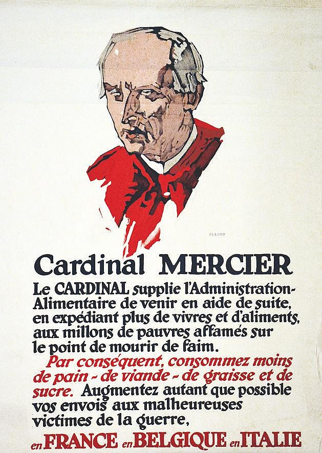 ILLION Cardinal Mercier vers 1917