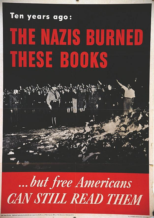 The Nazis burned theese Books     1943