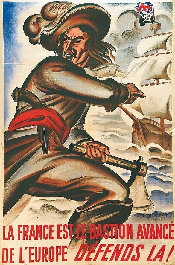 La France est le Bastion avancé de l'Europe, Défends là !     vers 1943