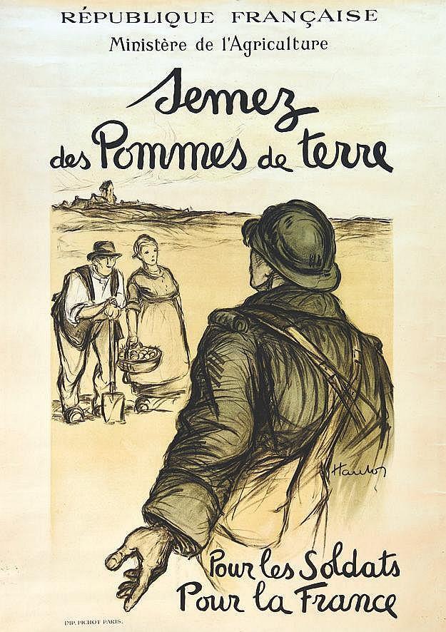 HAUTON Semmez des Pommes de Terre vers 1915
