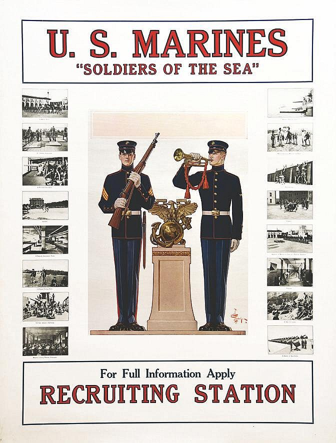 HEYENDECHER Soldiers of the Sea US Marines 1917