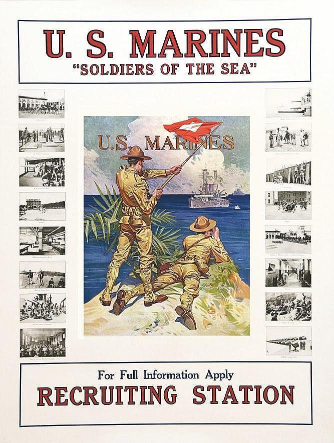 HEYENDECHER Soldiers of the seas - US Marines 1917
