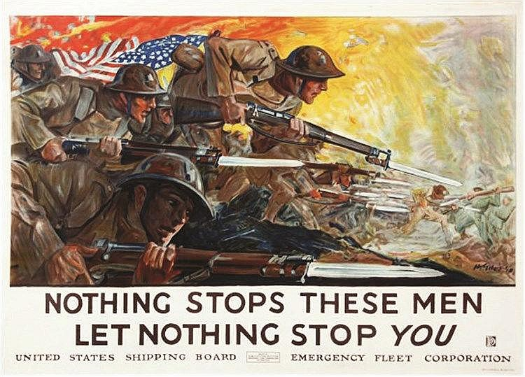 HOWARD GILLES  Nothing Stops These Men, Let Nothing Stop You     vers 1918