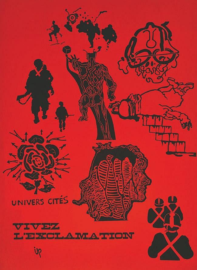 IPOUSTEGUY  Université - Cités Vivez L'Exclamation très rare / very rare     1968  Nanterre (Hauts de Seine)