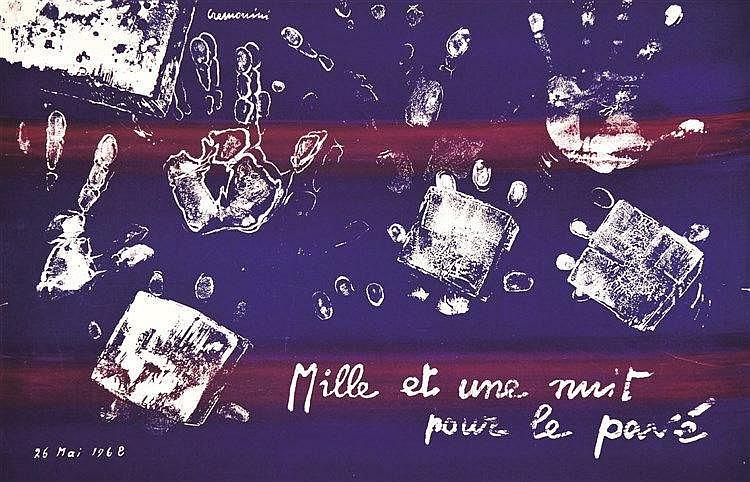 PETIT P. Mille et une nuit pour le pavé 1968