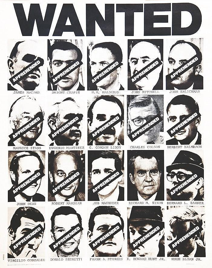 Wanted Nixon ( toute l'équipe de Nixon - All the Nixon Staff) 1974