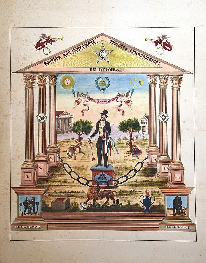 Honneur aux  Compagnons Tisseurs Ferrandiniers du Devoir - Honneur A L'industrie     1831 MDCCCXXXI