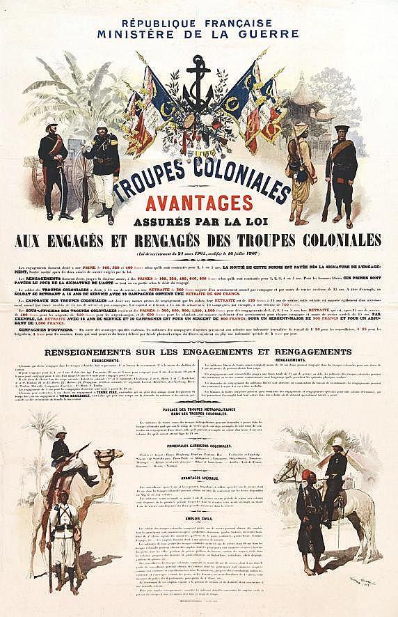 SCOTT GEORGES  Troupes Coloniales - Avantages Assurés Par La Loi     1909