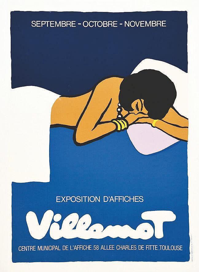 VILLEMOT BERNARD  Villemot - Exposition d'Affiches Centre Municipal de L'Affiche     vers 1990  Toulouse (Haute-Garonne)