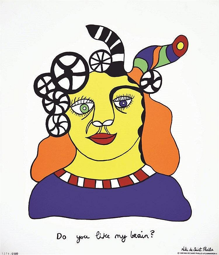 SAINT PHALLE Niki de Do you like my Brain ? Tirée à 2500 ex N° 1276/ 2500 1999