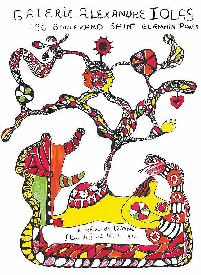 SAINT PHALLE Niki de Niki de Saint Phalle 1970 - Le Rêve de Diane 1970