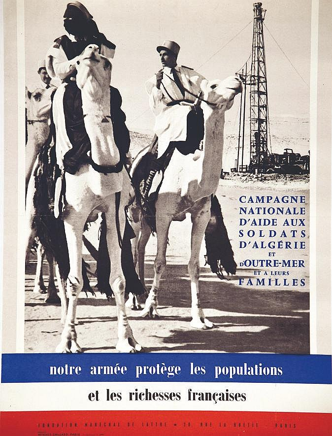 Notre Armée protège la Population et les Richesses Françaises     vers 1950