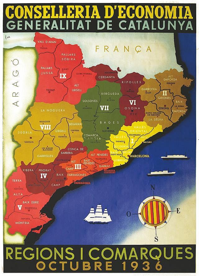 PAN  Regions i Comarques octubre 1936     1936