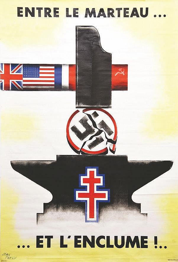 CARLU JEAN Entre le Marteau et l'Enclume!.. vers 1944