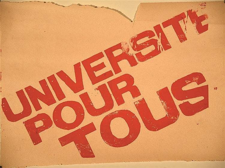 Université pour tous 1968 Nanterre (Hauts de Seine)