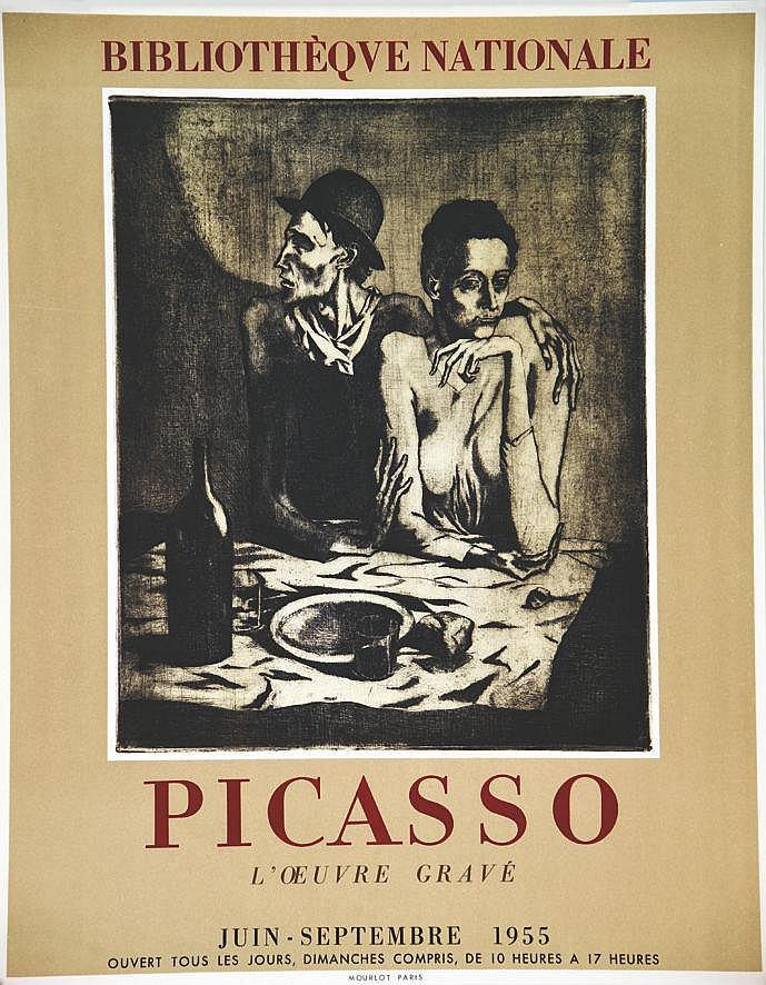 PICASSO PABLO  Picasso L'Œuvre Gravée Bibliothèque Nationale ( Le Repas Frugal )     1955