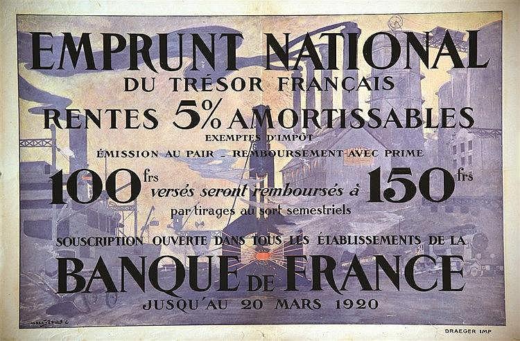 SEBILLE ALBERT  Banque de France     vers 1919