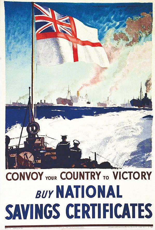 ROWLAND HILDER Convoy your country to Victory buy National saving Certificates vers 1918