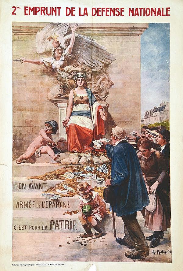 ROBAUDI A. 2 ème Emprunt de La Défense Nationale vers 1915
