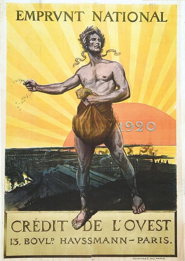 SCOTT GEORGES  Crédit de L'Ouest Emprunt National 1920     1920