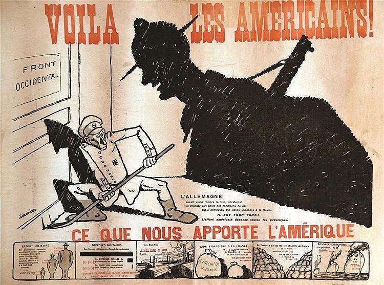 SAUNIER  Voilà les Américains     1917