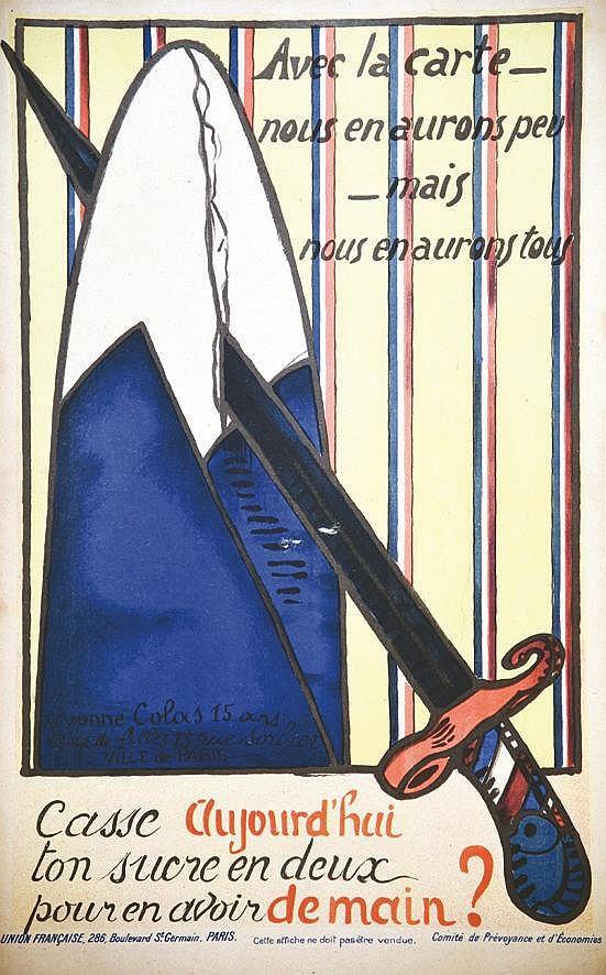 COLAS YVONNE  Casse aujourd'hui ton sucre en deux     1917