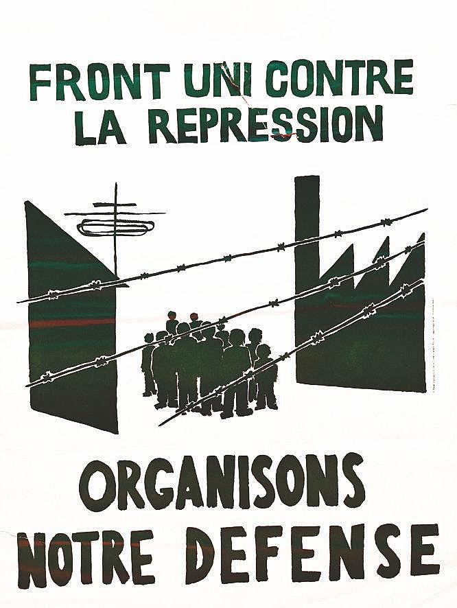 Front Uni contre la repression     1968