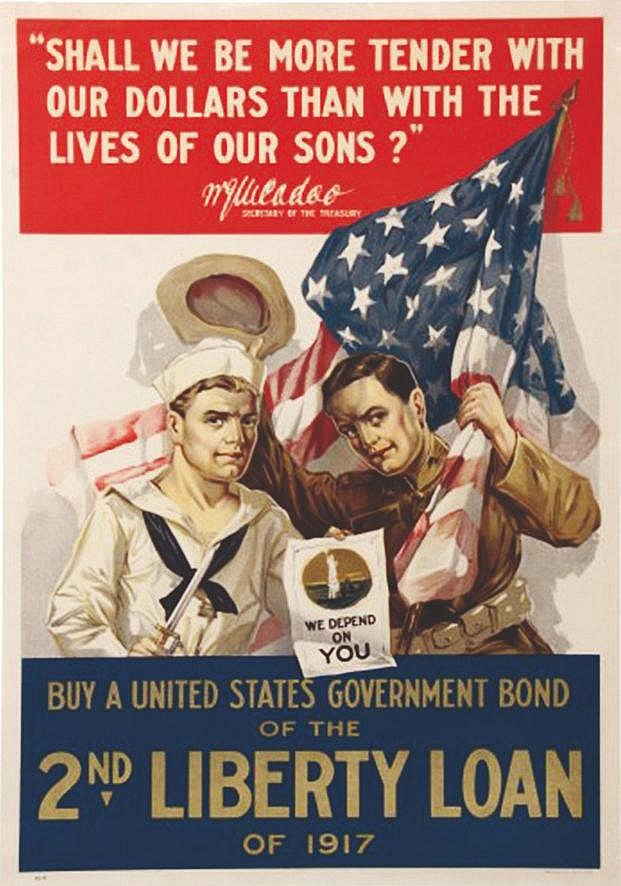 Shall we be more tender with our dollars than with the lives of our sons?     1917