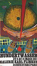 HUNDERTWASSER  Hundertwasser Galerie Karl Flinker     1967