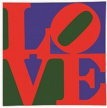 INDIANA ROBERT  Love Affiche sur arches encadrée     vers 1970