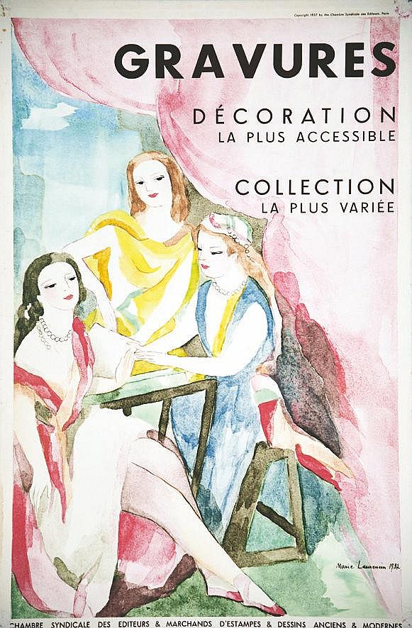 LAURENCIN MARIE  Gravures Marie Laurencin Décoration Collection     1937