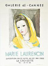 LAURENCIN MARIE  Marie Laurencin - Galerie 65 Cannes     1962