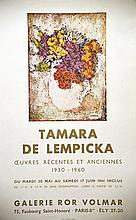 LEMPICKA TAMARA DE  Tamara de Lempicka - Galerie Ror Volmar     1961