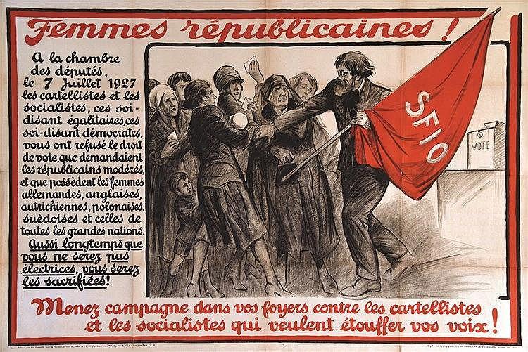 GALLAND ANDRE  Les Femmes Républicaines ! .. En 1927 refus du droit de vote par les cartelistes…     vers 1930