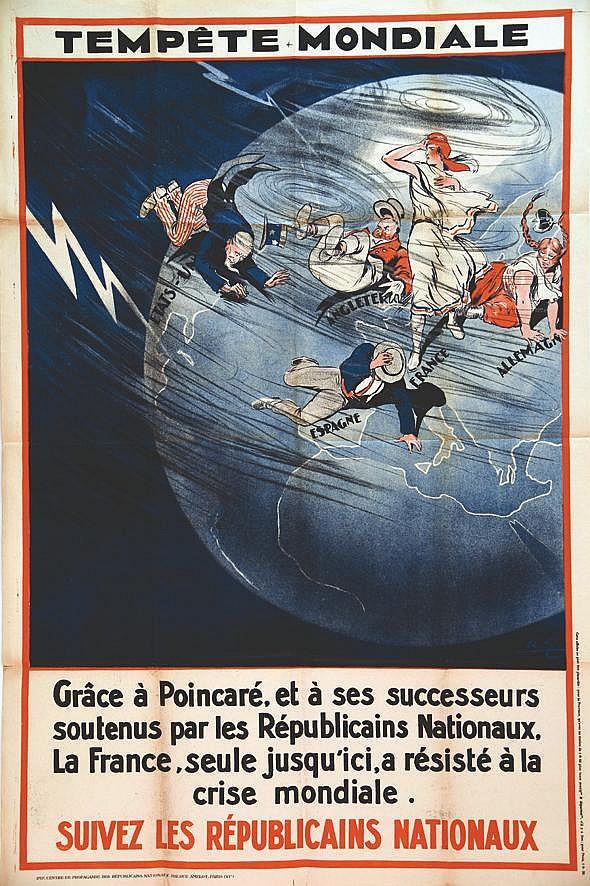 GALLAND ANDRE  Tempête Mondiale Grace à Pioincarré     vers 1920