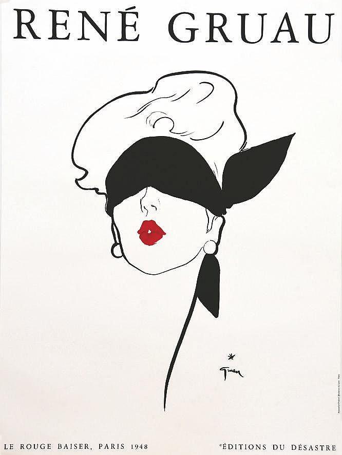 GRUAU RENE  Rouge Baiser - Editions du Désastre     vers 1980