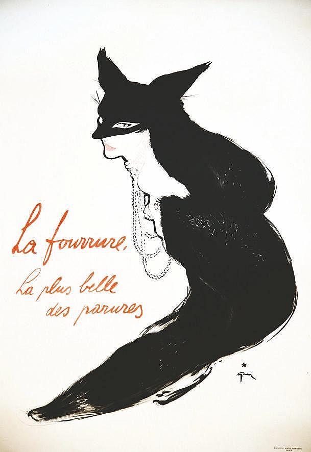 GRUAU RENE  La Fourrure La plus belle des parures     vers 1950