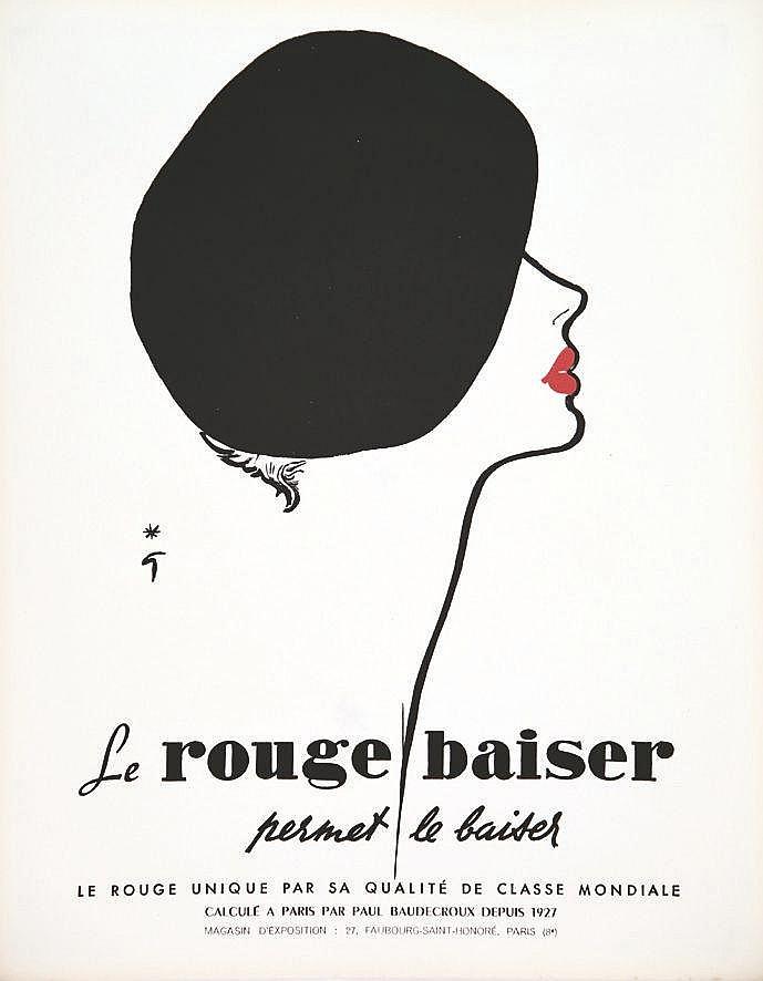 GRUAU RENE Le Rouge Baiser permet le Baiser Paul Baudecroux vers 1950