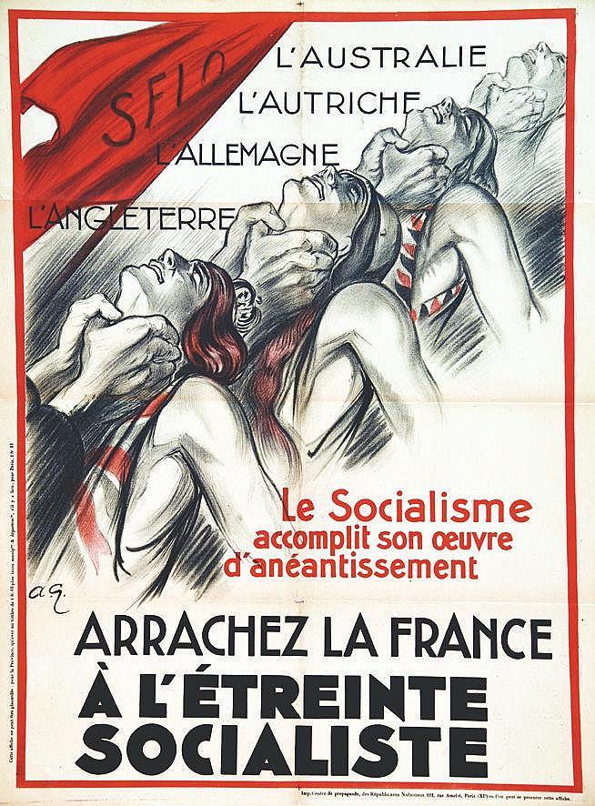 GALLAND ANDRE Arrachez la France à l'Etreinte Socialiste vers 1920