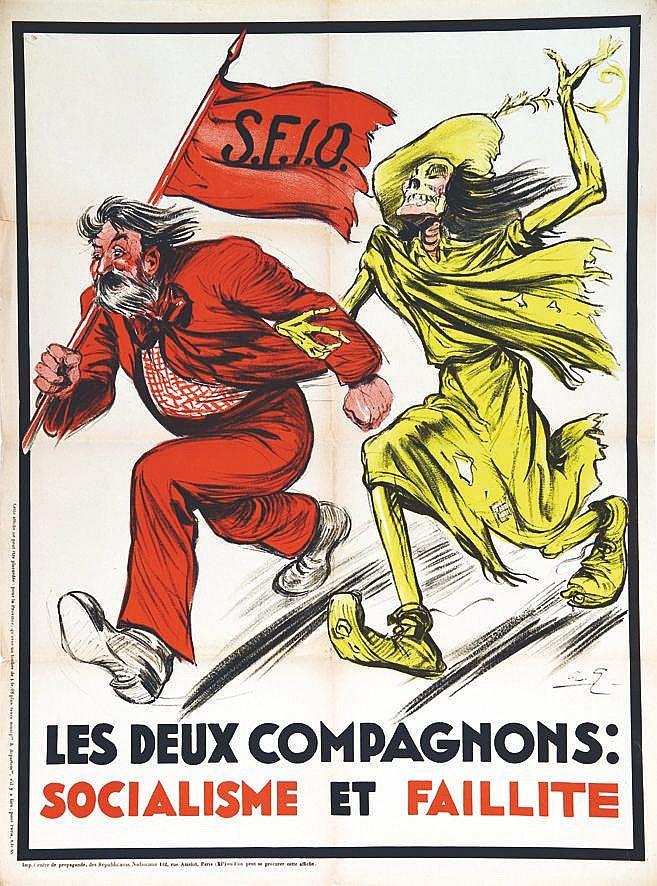 GALLAND ANDRE  SFIO Les 2 Compagnons : Socialisme et Faillite     vers 1920