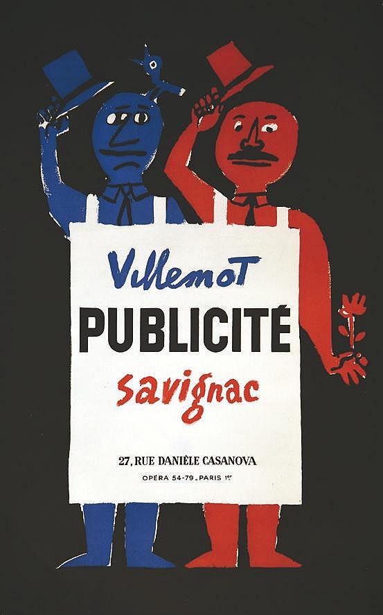 SAVIGNAC RAYMOND Villemot Savignac Publicité vers 1950