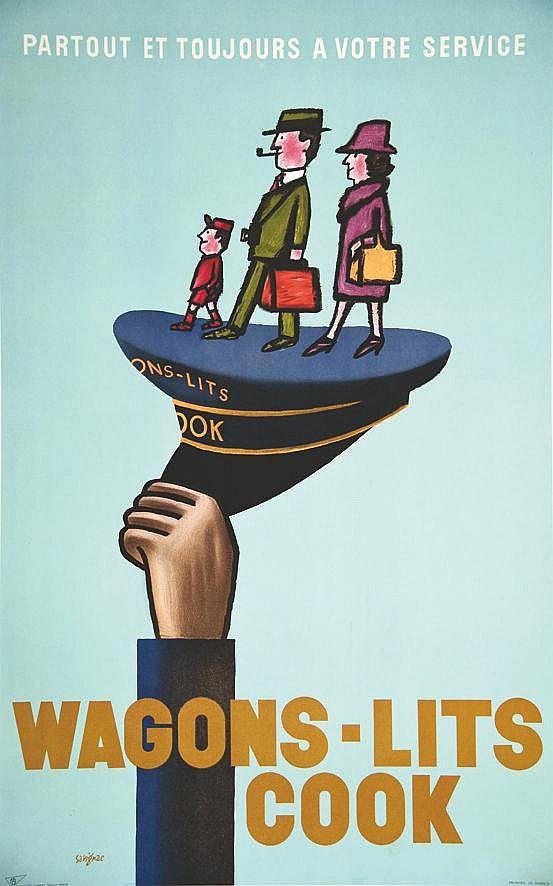 SAVIGNAC RAYMOND  Wagons Lits Cook     vers 1960