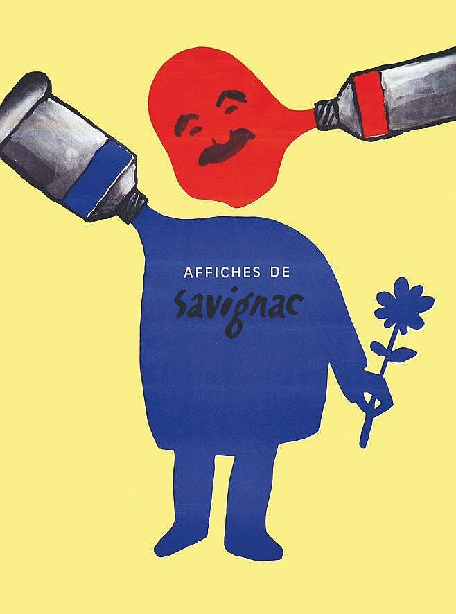 SAVIGNAC RAYMOND  Affiche de Savignac Très Rare     vers 1960