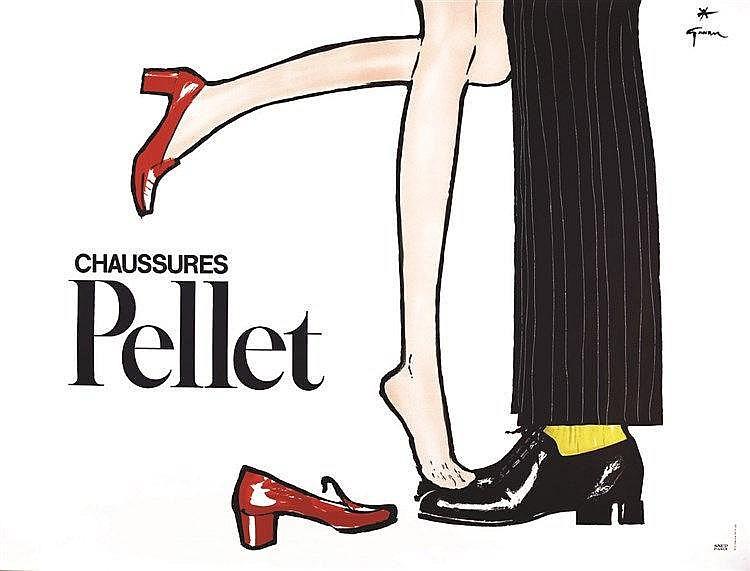 GRUAU RENE  Chaussures Pellet     vers 1950