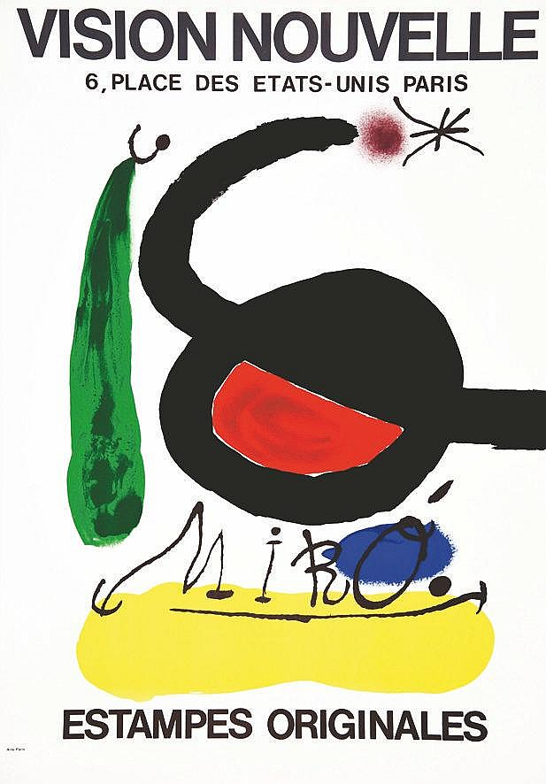 MIRO JOAN  Vision Nouvelle Miro     1969