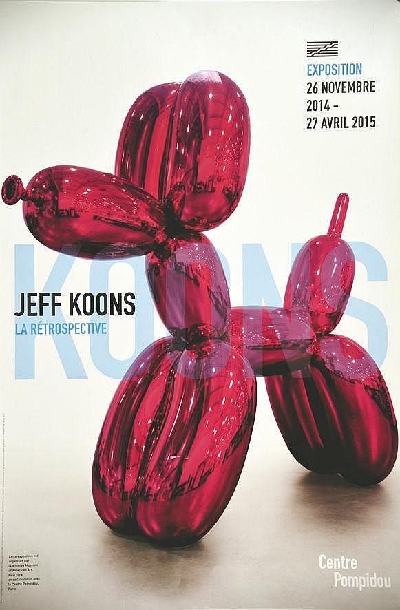 KOONS JEFF  Jeff Koons - Centre Georges Pompidou     2015
