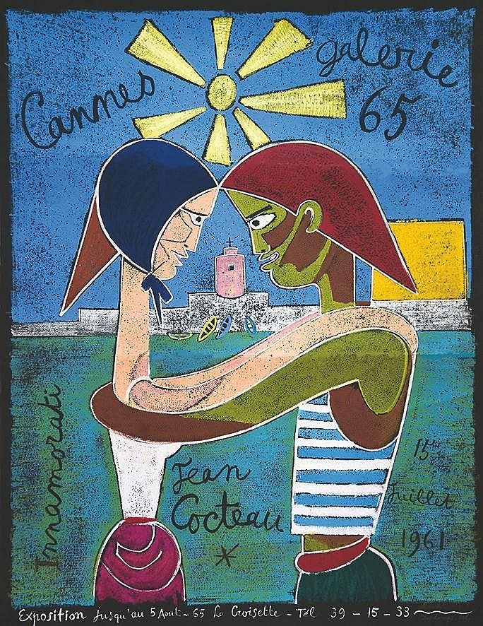COCTEAU JEAN Innamorati - Cannes Galerie 65 1961