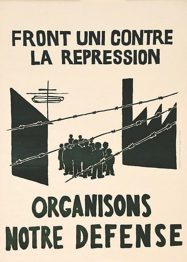 Front Uni contre la repression Organisons notre Défense     1968