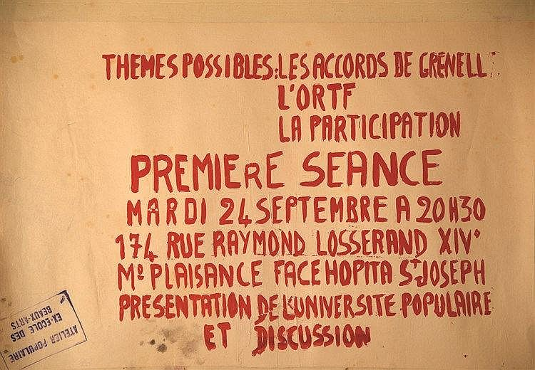 Themes Possibles : les accords de Grenelle 1968
